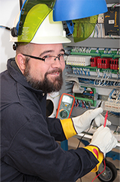 Electrical Program Student Working